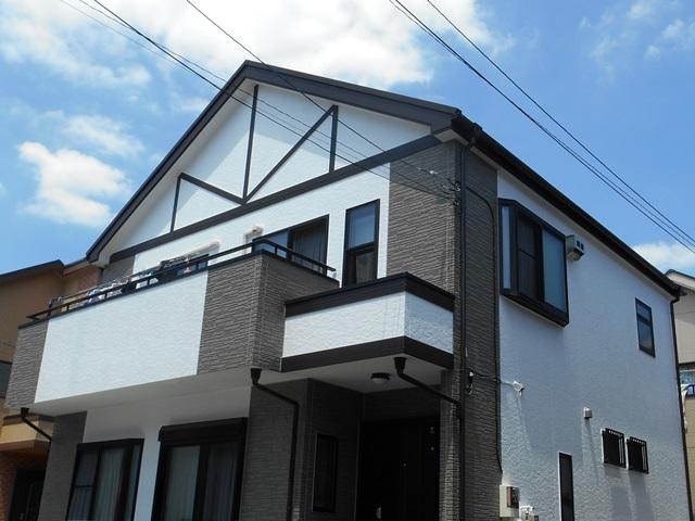 草加市西町 O様邸 外壁塗装・屋根重ね葺き工事